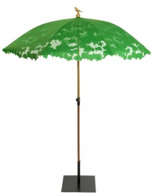 The Shadylace Parasol By Droog Features A Unique Shape And A Fabulous  Bright Green Color, Not To Mention The Adorable Little Bird Accent On Top!