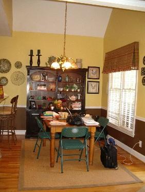 breakfast room before makeover