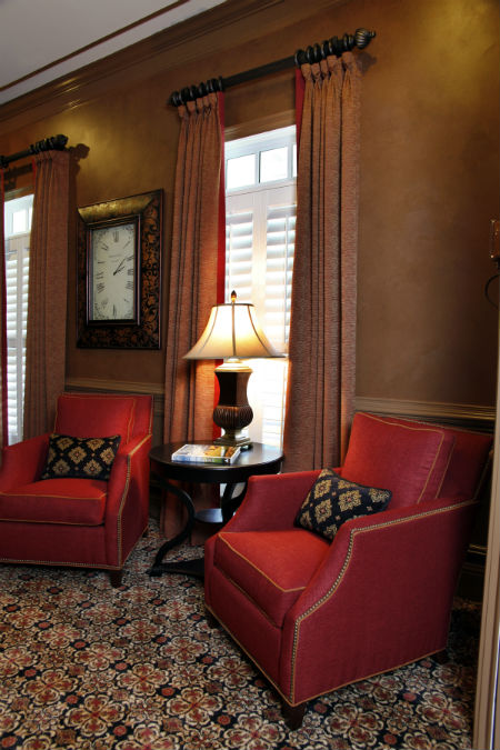 Atlanta interior design faux finish office remodel
