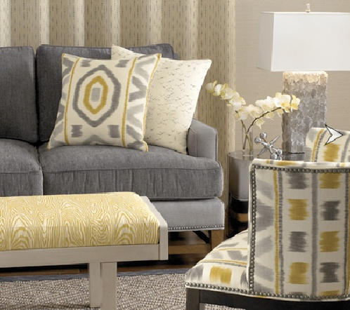 Gray Interior Design fall color trend: yellow and gray interiors | mjn and associates