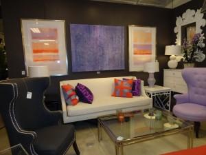 Purple and Orange Living Room Exhibit