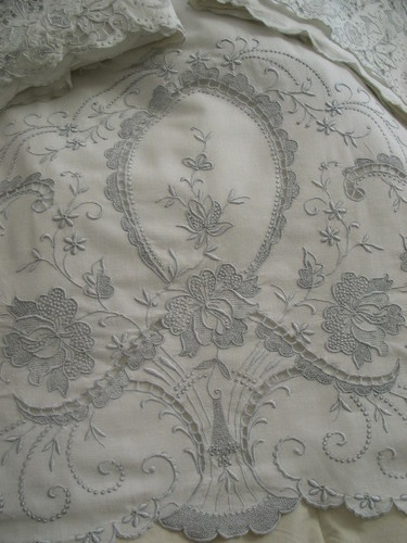 cutwork sheets for elegant bedroom design