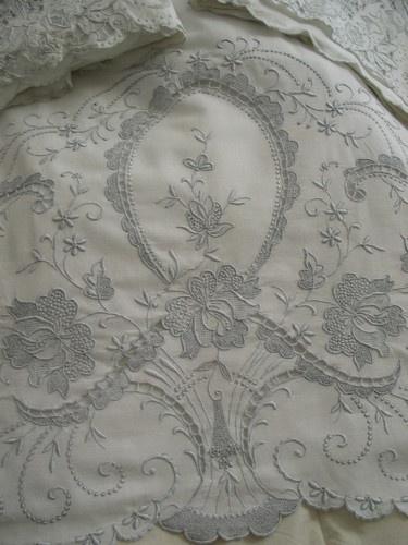 cutwork sheets for elegant bedroom design