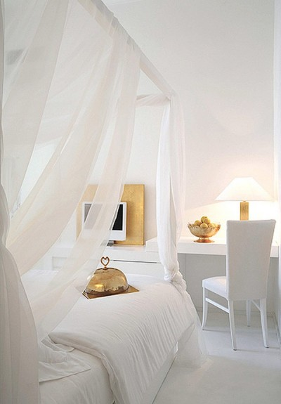 white contemporary bedroom design