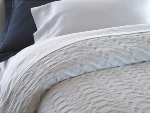 contemporary matelasse bedding for spa interior design