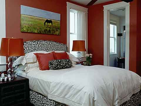 decorating bedroom with art