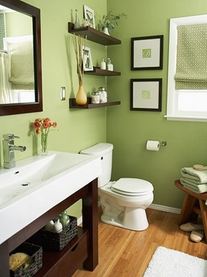 green colors for bathroom remodel