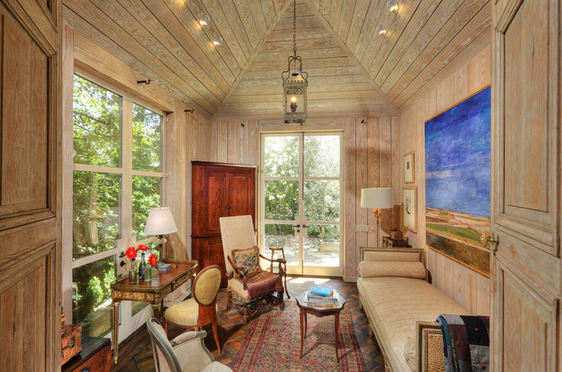 pickled wood paneling for rustic coastal style - Interior Designer Tip: How To Update Wood Paneling MJN And