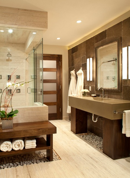 Neutral Spa Bathroom