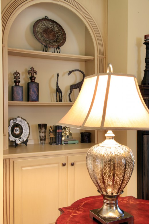 bringing out detail in built-in bookcases