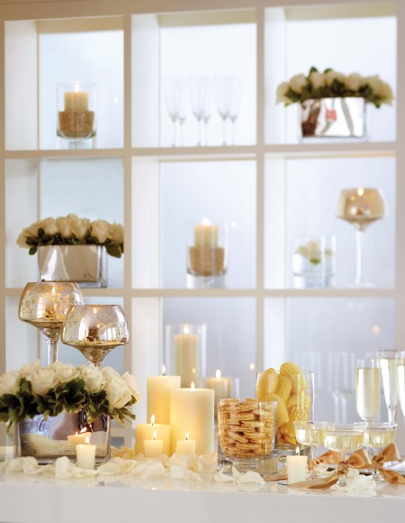 candles used in New Year's tablescape
