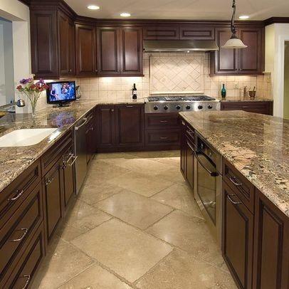 granite countertops in remodeled kitchen