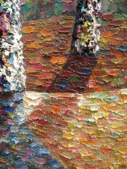 detail of Man Wai Wu painting at Virginia Beach art show