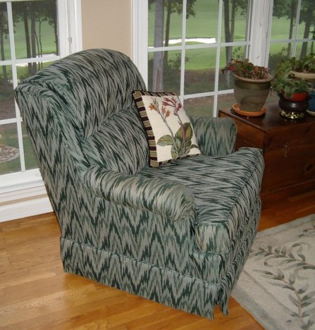 before reupholstering chair