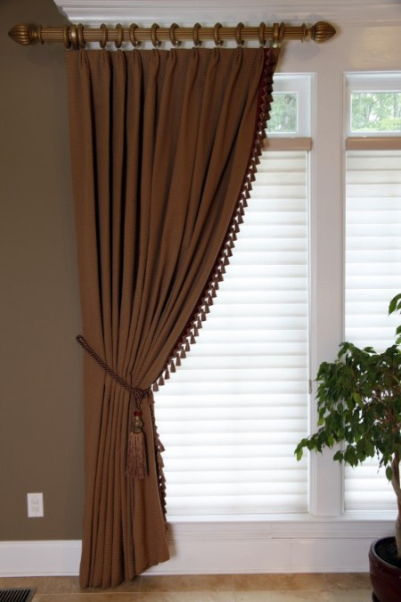 pleated custom panel with trim