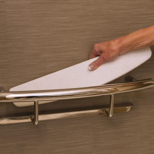 stylish grab bar shelf