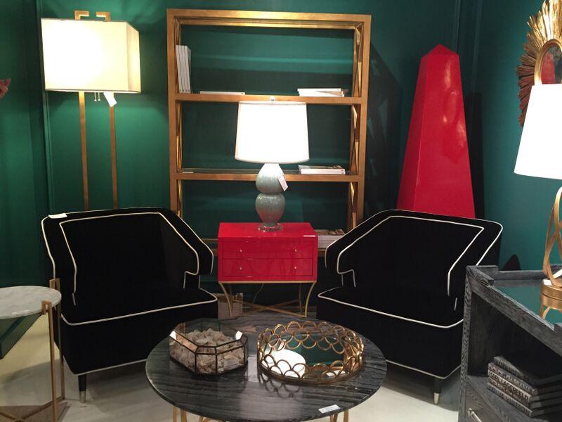metallic gold furniture