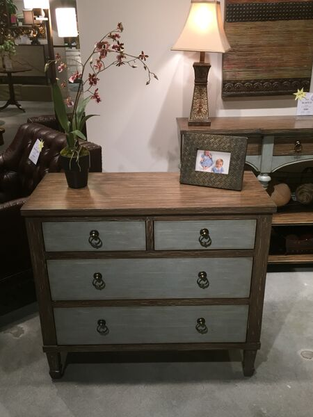 White Chalk Paint Dresser Two Tones