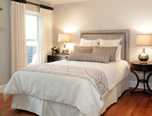 Gray and Ivory Guest Suite