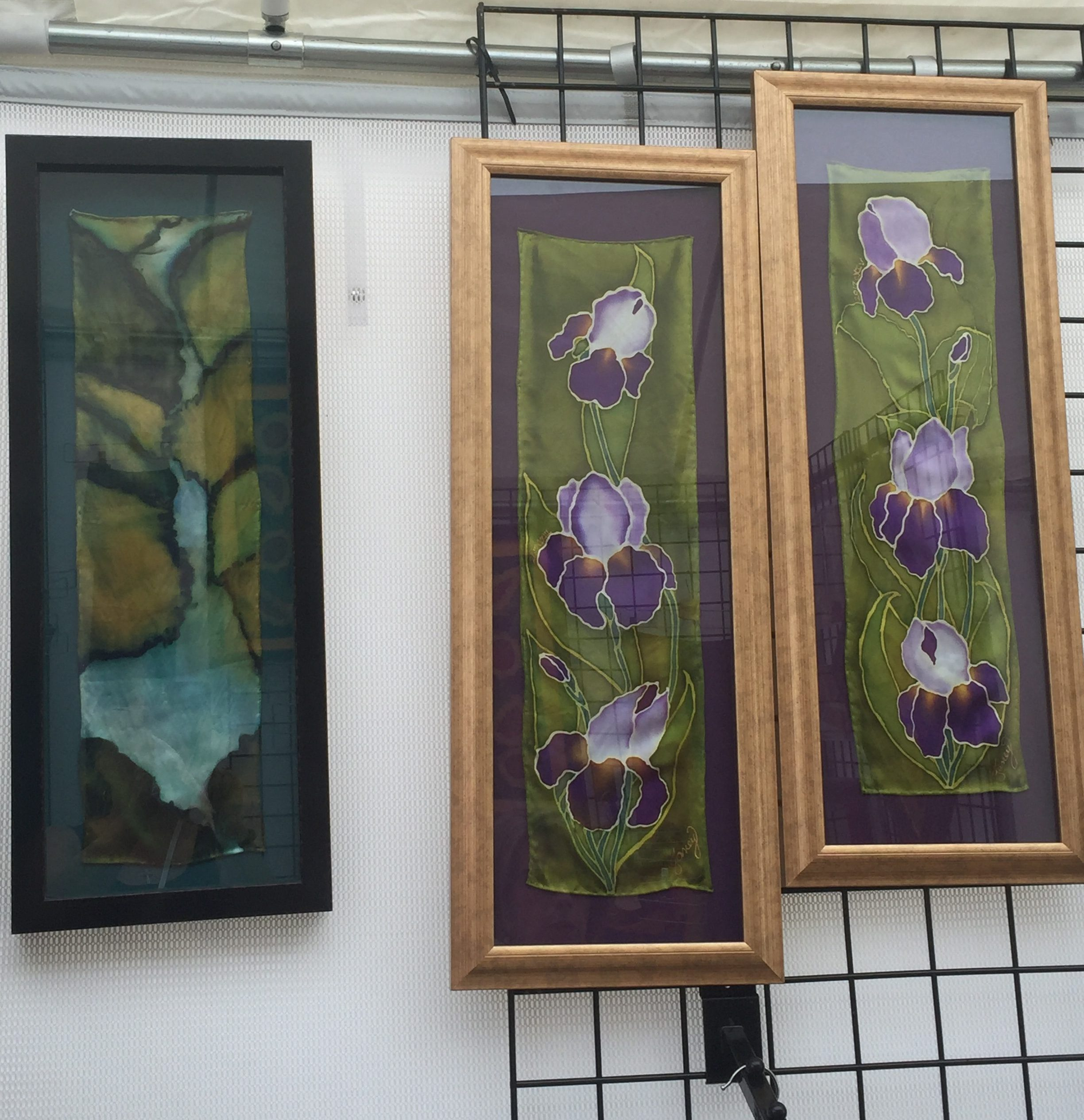 silk paintings by Janey