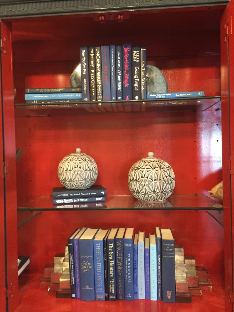Bespoke shelving with books